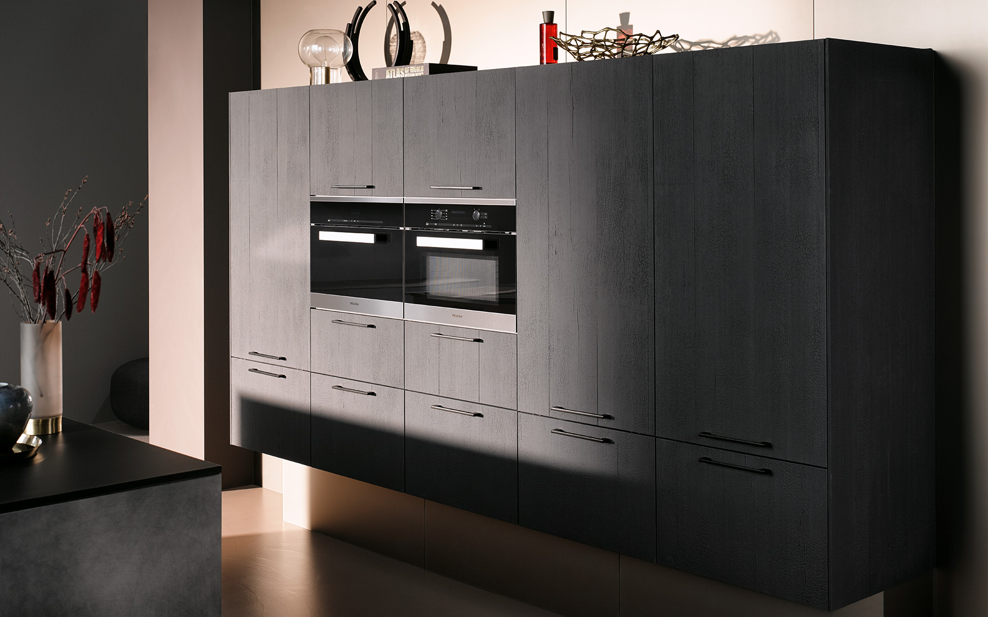 AV 6048 volcano oak. AV 7070 industrial steel