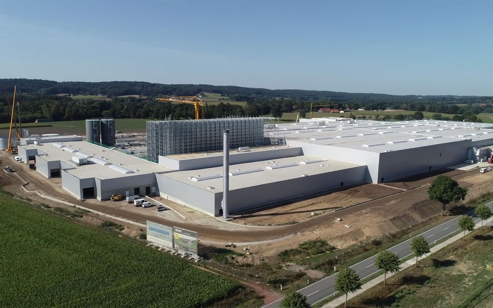 [Translate to Türkçe:] Construction progress - Häcker Kitchens plant 5 in Venne